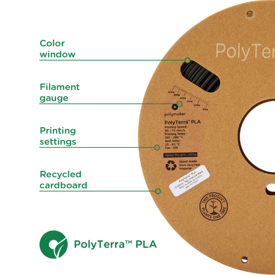 PolyTerra PLA Nero by Polymaker