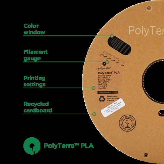 PolyTerra PLA Fossil Grey by Polymaker